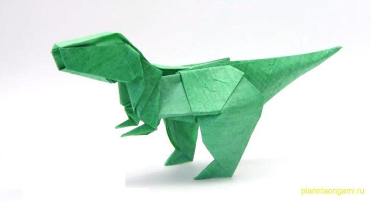 Оригами T-Rex от Романа Петренко (Yakomoga Origami)