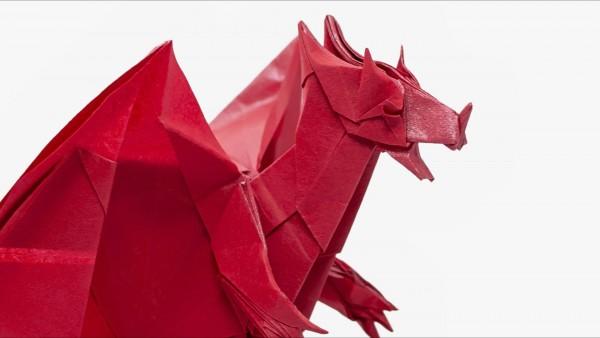 Оригами дьявольский дракон по схеме Джо Накашима (Jo Nakashima)
