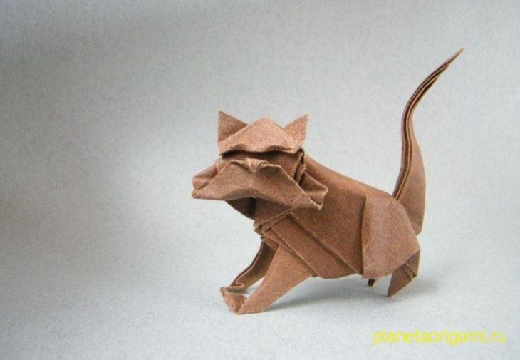 Оригами кот по схеме Николаса Терри (Nicolas Terry)