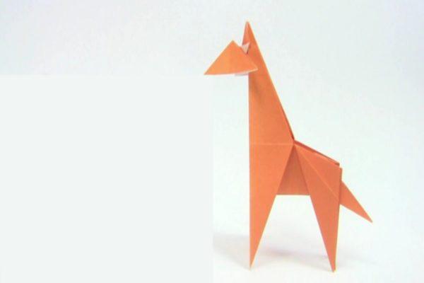 Оригами простой жираф по схеме Юкихико Мацуно (Yukihiko Matsuno)