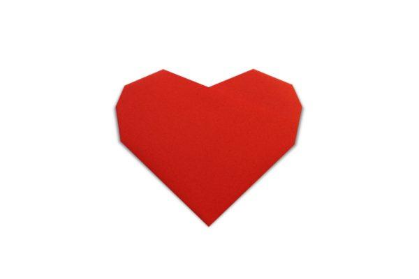 Оригами сердце из 6 сгибов по схеме Стефана Джиганде (Stephane Gigandet6-Fold Heart (Stephane Gigandet)