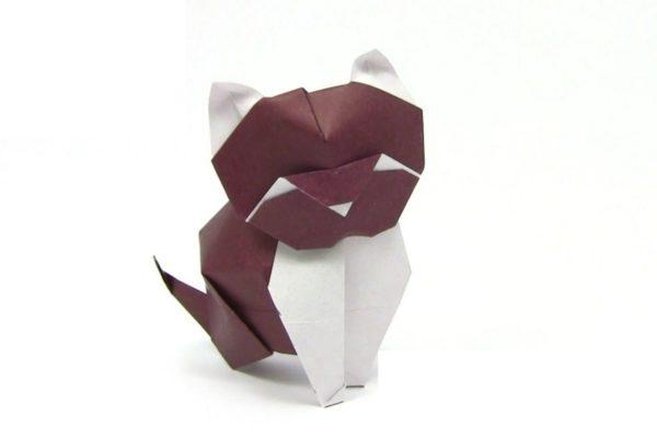 Оригами кошка по схеме Альфредо Джунта (Alfredo Giunta)