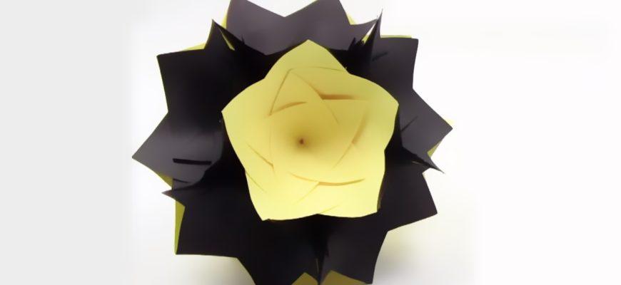 Оригами кусудама по схеме Надин Иволги (Nadin Ivolga)