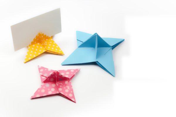 Оригами простой держатель для карт - сюрикен