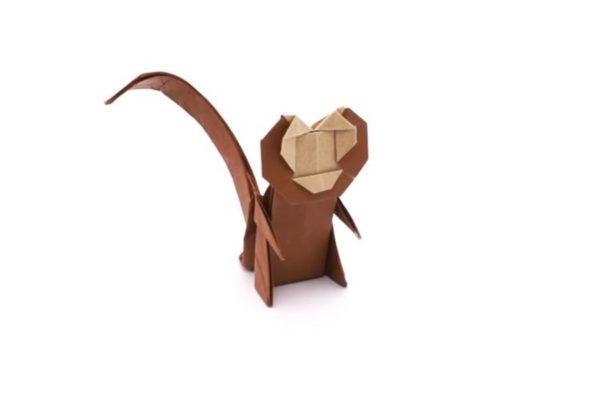 Оригами обезьяна по схеме Джо Накашима (Jo Nakashima)