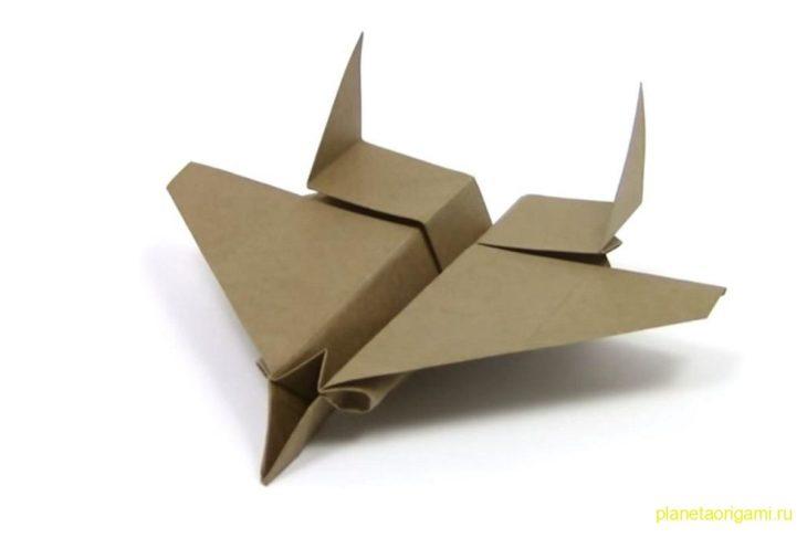 Оригами реактивный истребитель F15 Eagle по схеме Романа Петренко (Roman Petrenko)