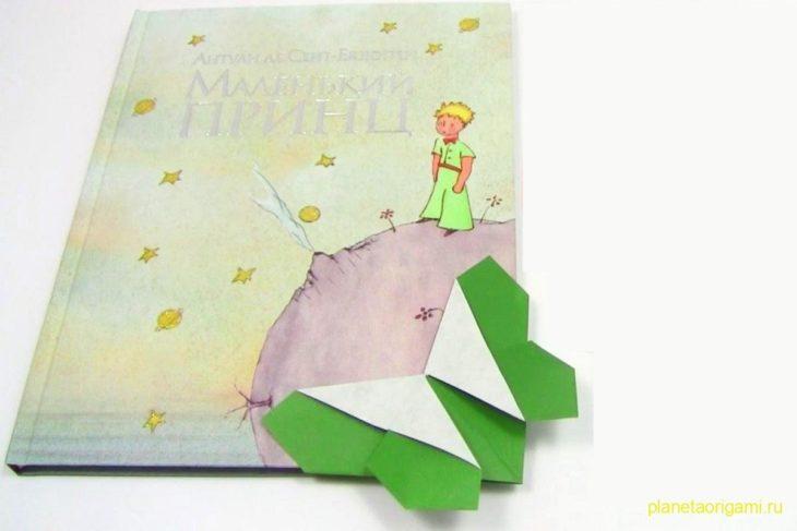 Оригами закладка-бабочка