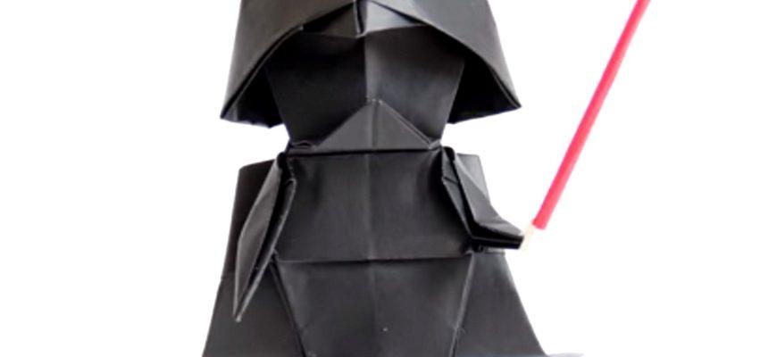 Оригами Дарт Вейдер по схеме Тадаши Мори (Tadashi Mori)