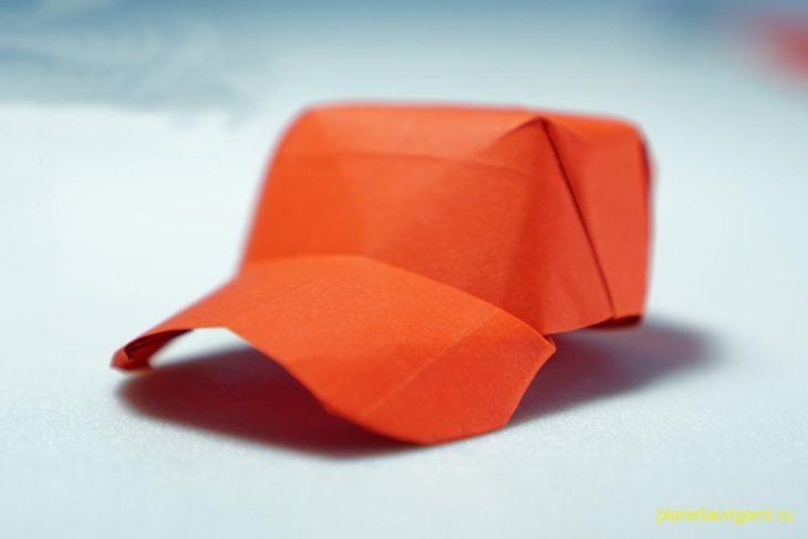 Оригами бейсболка по схеме Генри Фама (Henry Pham)