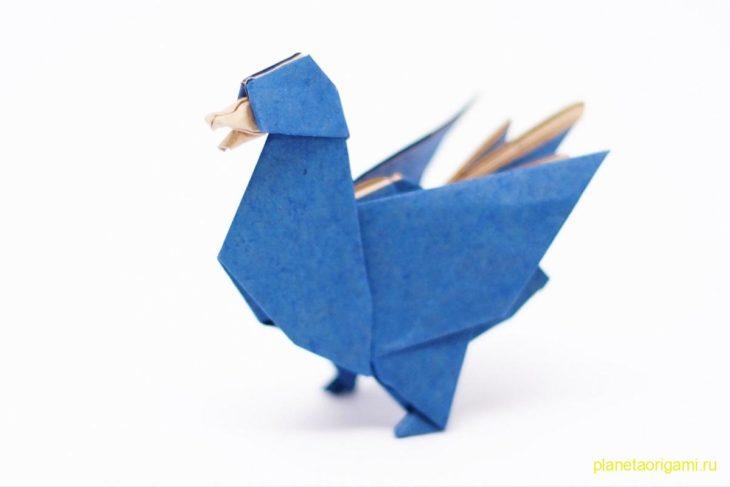 Оригами утка по схеме Джо Накашимы и Камилы Зеймер (Jo Nakashima и Camila Zeymer)