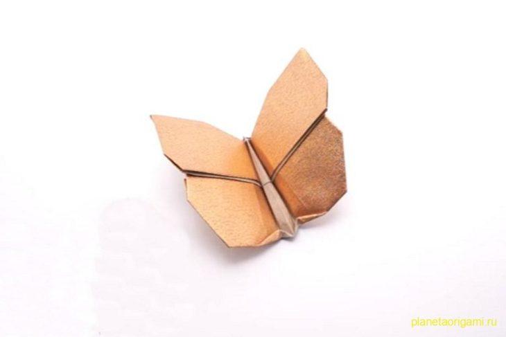 Оригами бабочка по схеме Джо Накашима (Jo Nakashima)