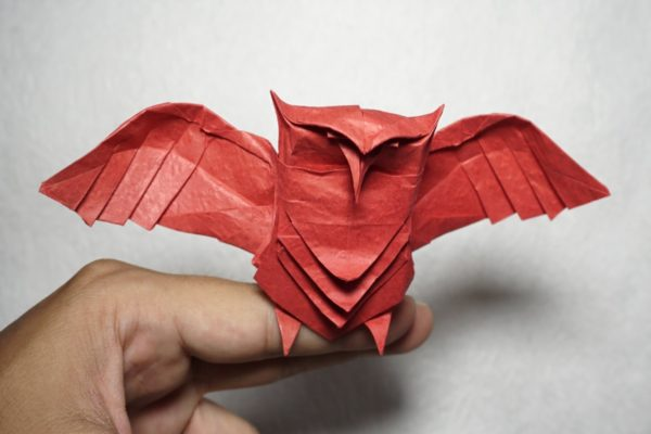 Оригами сова по схеме Генри Фама (Henry Pham)