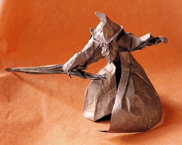 Оригами волшебник по схеме Сатоши Камия (Satoshi Kamiya)