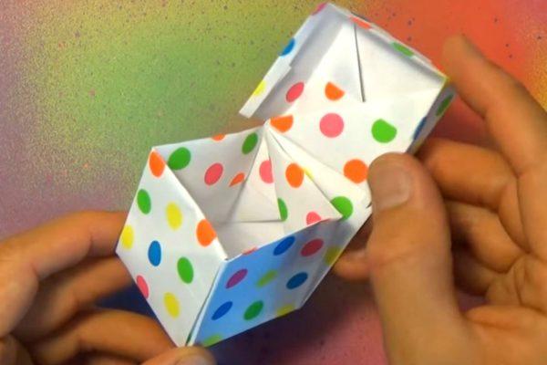 Оригами коробочка для наушников по схеме Джереми Шейфера (Jeremy Shafer)
