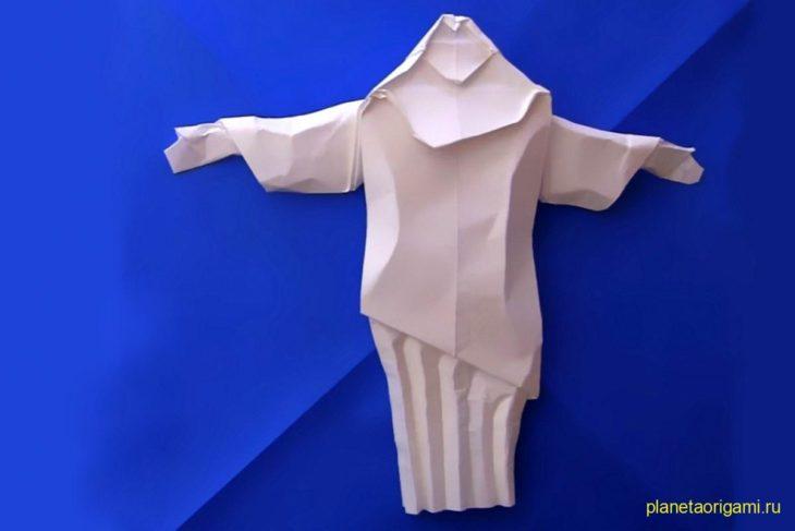 Оригами Христос-Искупитель по схеме Шуки Като (Shuki Kato)