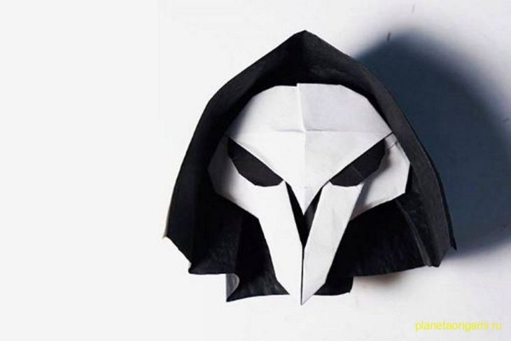 Оригами маска жнеца смерти по схеме Генри Фама (Henry Pham)