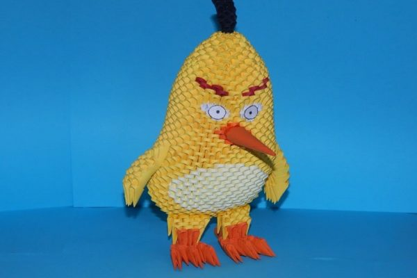 Оригами Чак (Желтый) из Angry Bird