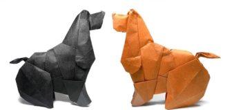 Оригами коккер-спаниель по схеме Барта Дункана (Barth Dunkan)