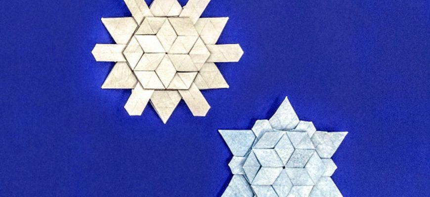 """Оригами снежинка по схеме Мелины Хермсен (Melina """"Yureiko"""" Hermsen)"""