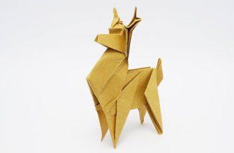 Оригами олень по схеме Джо Накашима (Jo Nakashima)