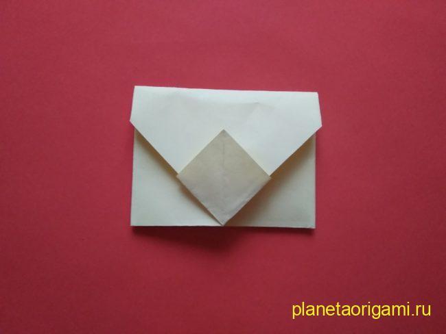 Легкие оригами конверт: инструкция с фото
