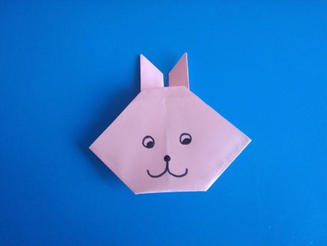 Легкие оригами кролик: инструкция с фото
