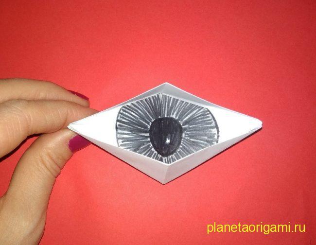 Легкие оригами моргающий глаз: инструкция с фото