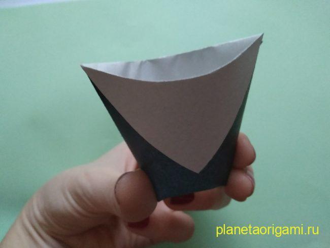 Легкие оригами чашка: инструкция с фото