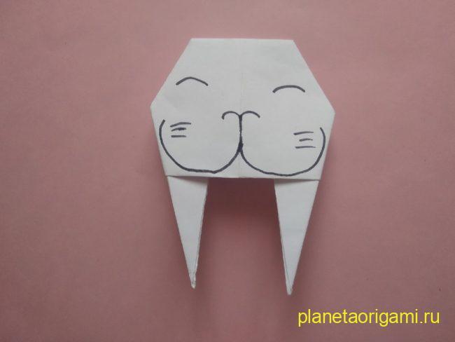 Легкие оригами морж: инструкция с фото