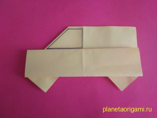 Легкие оригами автомобиль: инструкция с фото