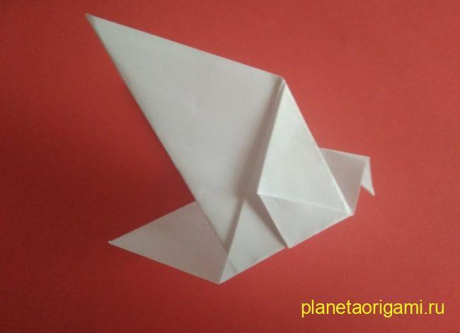 Легкие оригами голубь: инструкция с фото
