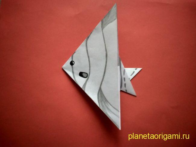 Легкие оригами рыба: инструкция с фото