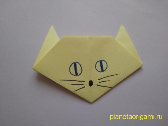Легкие оригами кошка: инструкция с фото