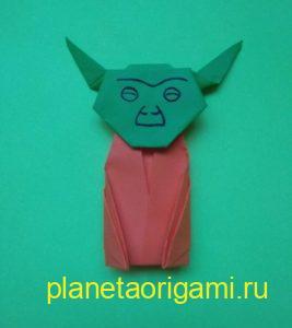 Легкие оригами Йода: инструкция с фото