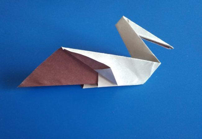 Легкие оригами пеликан: инструкция с фото