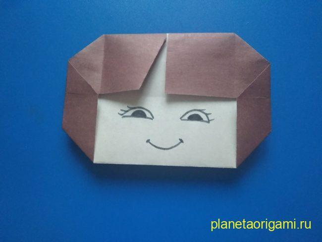 Легкие оригами девочка: инструкция с фото