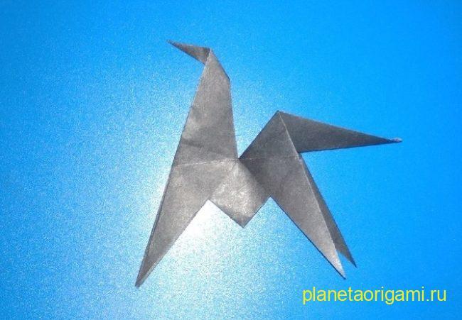 Легкие оригами лошадь: инструкция с фото
