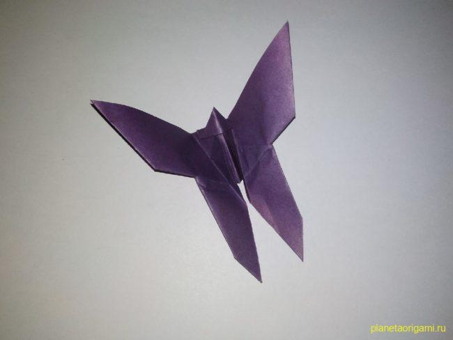 Легкие оригами бабочка: инструкция с фото