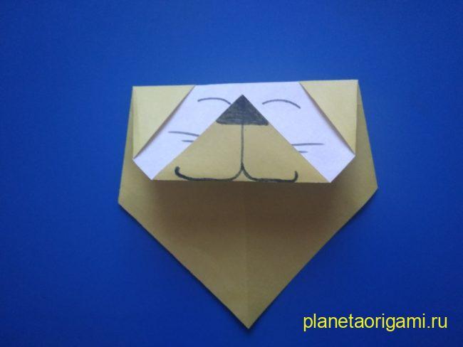 Легкие оригами лев: инструкция с фото