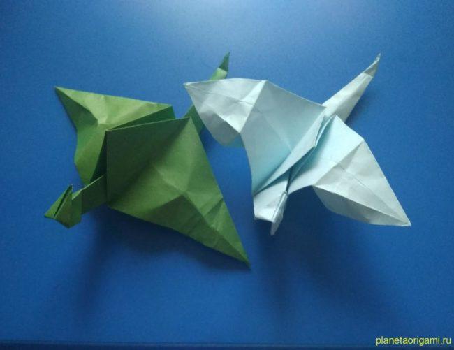 Легкие оригами дракон: инструкция с фото