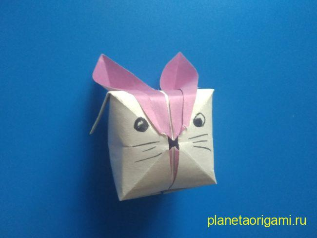 Легкие оригами кролик Банни: инструкция с фото