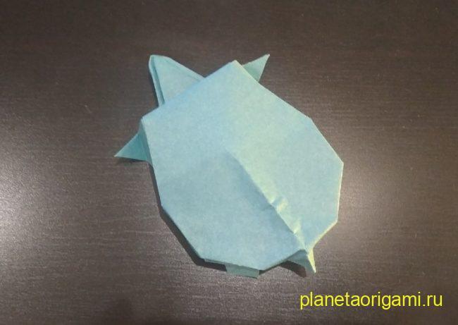Легкие оригами черепаха: инструкция с фото