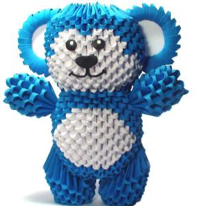 3D синий модульный мишка
