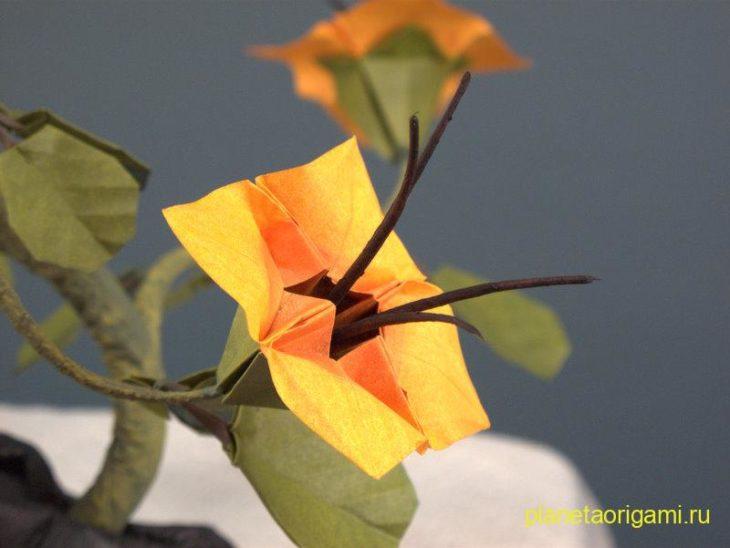 оригами бонсай