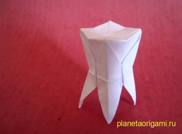 Оригами зуб