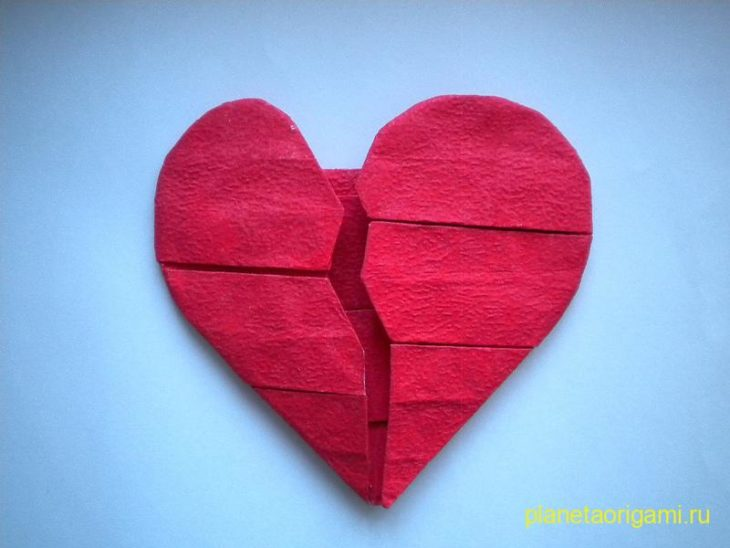 разбитое оригами сердце
