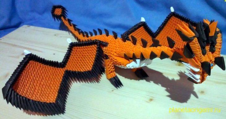 модульный дракон оригами