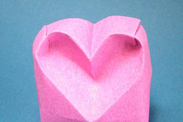 объемное оригами сердечко