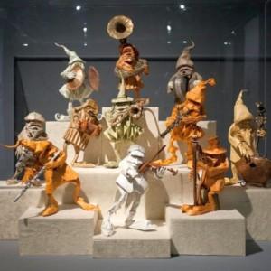 Фигурки в музее оригами в Испании