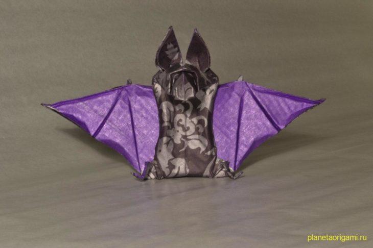 оригами летучая мышь